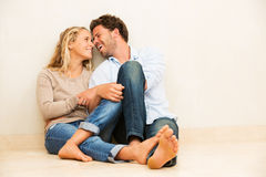 Happy young couple at home Royalty Free Stock Photo