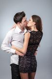 Happy young couple hugging. First love Stock Photography