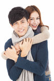 Happy young couple hugging together Stock Photography