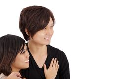 Happy young couple isolated Stock Photos