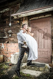 Happy young couple just married Royalty Free Stock Images