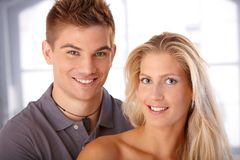 Happy young couple laughing Royalty Free Stock Images