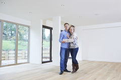 Happy Young Couple Looking At Details Of New Home royalty free stock photos