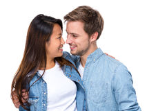 Happy young couple looking at each other Royalty Free Stock Photography