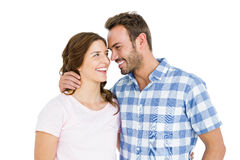 Happy young couple looking at each other and smiling Royalty Free Stock Images