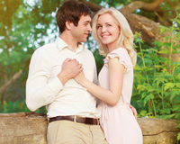 Happy young couple in love Stock Photos
