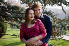 Happy young couple in love. Portrait of a beautiful young couple Stock Photo