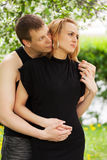 Happy young couple in love Royalty Free Stock Photos