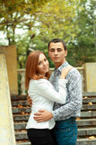 Happy young couple outdoor Royalty Free Stock Photography
