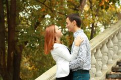 Happy young couple outdoor Royalty Free Stock Images