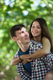 Happy young couple outdoor Stock Image