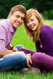 Happy young couple outdoors Stock Photography