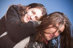 Happy young couple outdoors Royalty Free Stock Photography