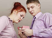 Happy young couple. Royalty Free Stock Image