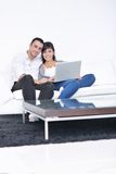 Happy young couple relax at home Royalty Free Stock Photography