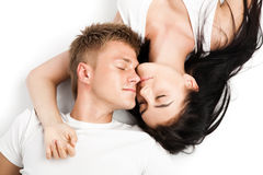 Happy young couple relaxing together Royalty Free Stock Image