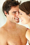 Happy young couple in a romantic mood Royalty Free Stock Photography
