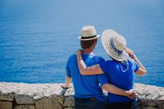 Happy young couple on sea vacation Royalty Free Stock Image