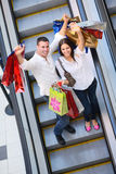Happy young couple in shopping Stock Photo