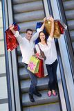 Happy young couple in shopping Royalty Free Stock Photos