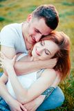 The couple enjoying each other royalty free stock images