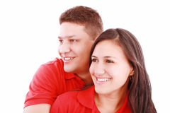 Happy young couple smiling Royalty Free Stock Photography