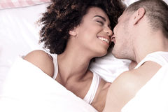 Happy young couple smiling. Stock Image