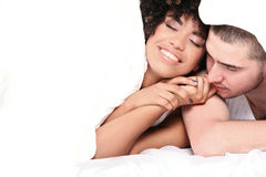 Happy young couple smiling. Royalty Free Stock Photo