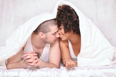 Happy young couple smiling. Royalty Free Stock Image