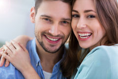 Happy young couple smiling Stock Photo