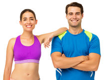 Happy Young Couple In Sports Wear Royalty Free Stock Photos