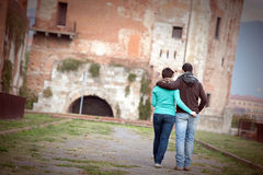 Happy Young Couple of Student royalty free stock photo