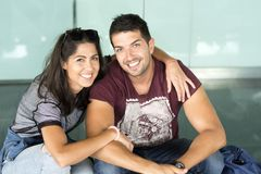 Happy Young Couple in Love royalty free stock images