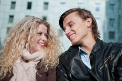 Happy young couple together Stock Image