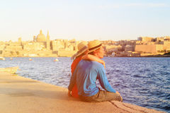 Happy young couple travel in Malta. Europe royalty free stock photos