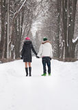 Happy young couple on a walk Royalty Free Stock Image