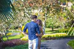 Happy Young Couple Walking Together Stock Photography