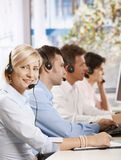 Happy customer service operator Stock Photography