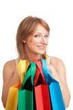 Happy young customer  after shopping Royalty Free Stock Photo