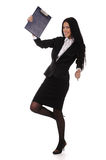 Happy young dancing businesswoman Royalty Free Stock Photo