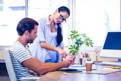Happy young designers working together Royalty Free Stock Photos