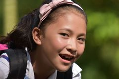 Happy Young Diverse Person. An attractive and asian person royalty free stock image