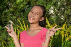 Happy Young Diverse Person. An attractive and asian person royalty free stock images