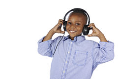 Happy Young DJ Closeup Royalty Free Stock Photography