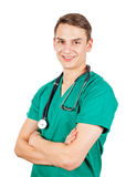 Happy young doctor Royalty Free Stock Photos