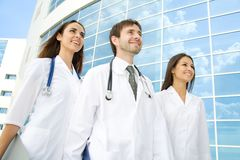 Happy young doctors Royalty Free Stock Photo