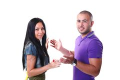 Happy young ethnic couple smiling Royalty Free Stock Photos