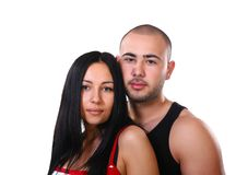 Happy young ethnic couple smiling Stock Images