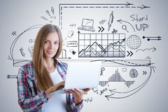 Startup and technology concept royalty free stock photography