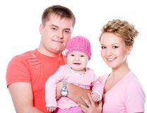 Happy young famile with beautiful baby Royalty Free Stock Photo